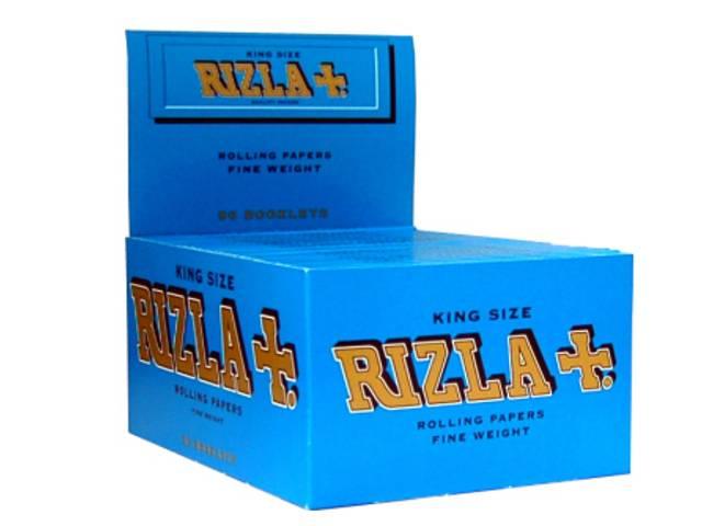 Κουτί με 50 χαρτάκια στριφτού KING SIZE RIZLA BLUE Μπλέ