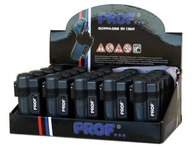 Κουτί με 20 αναπτήρες φλόγιστρο PROF BLUE FLAME GREY COLOR