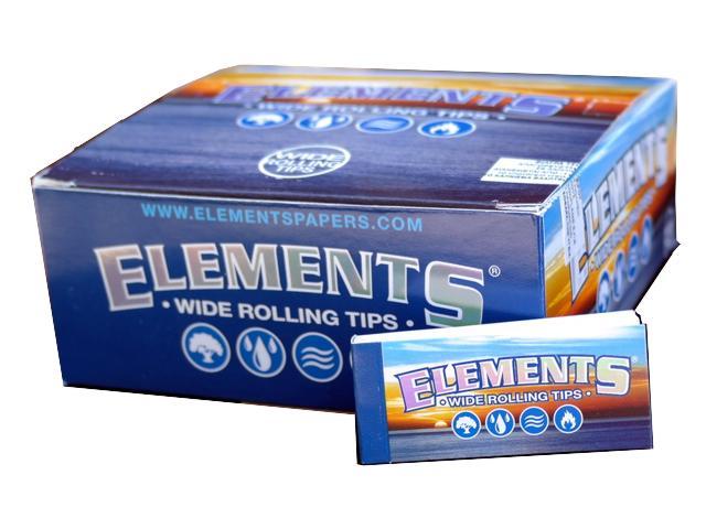 Κουτί με 50 τζιβάνες ELEMENTS WIDE ROLLING TIPS φαρδυές 50 φύλλα