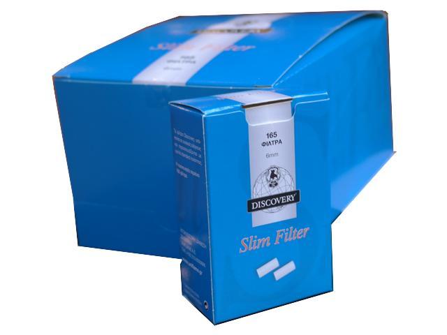 Κουτί με 10 φιλτράκια στριφτού DISCOVERY slim 6.0mm 165 τεμάχια