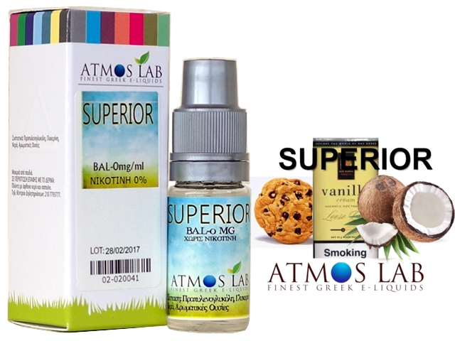 Atmos Lab SUPERIOR (καπνός βανίλια, καρύδα, μπισκότο) 10ml
