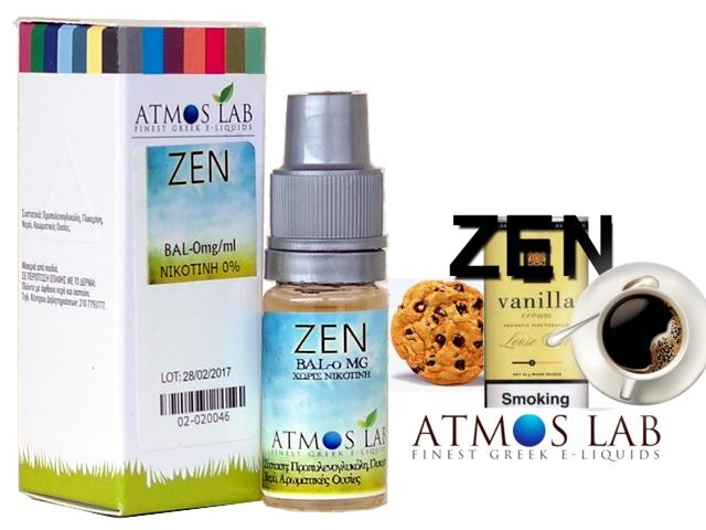4297 - Atmos Lab ZEN (καπνός βανίλια, καφές, μπισκότο) 10ml