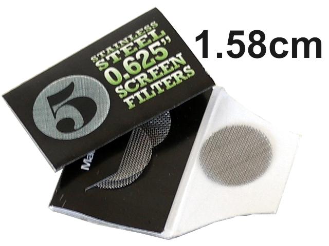 4320 - Σίτες Pipe Screens 0.625 Stainless steel 1.58cm μικρές (πακετάκι με 5 σίτες)