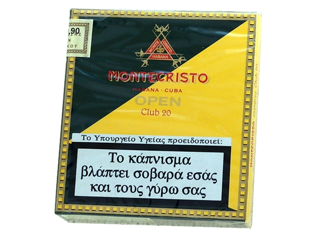 4396 - Cigarillos Montecristo open Club 20