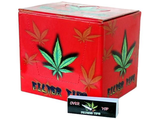 Κουτί με 100 τζιβάνες Over Top Filter Tips διάτρητες