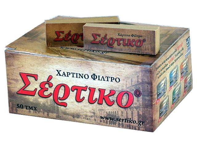 Κουτί με 50 τζιβάνες Σέρτικο Χάρτινο φίλτρο καφέ ακατέργαστες 51039