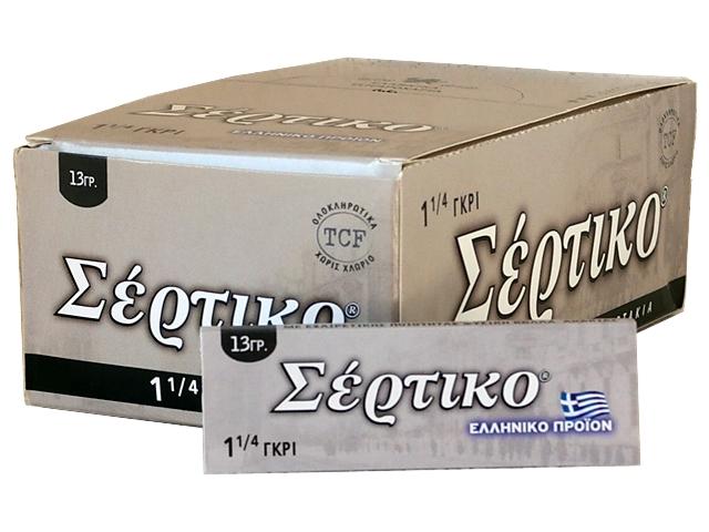 Κουτί με 50 χαρτάκια στριφτού ΣΕΡΤΙΚΟ ΓΚΡΙ 1 και 1/4 13γρ (μεσαίο)
