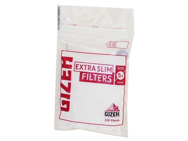 Φιλτράκια στριφτού Gizeh extra Slim Filters 5.3mm Bag 150