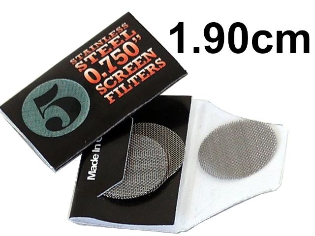 4581 - Σίτες Pipe Screens 0.750 Stainless steel 1.90cm μεσαίες (πακετάκι με 5 σίτες)