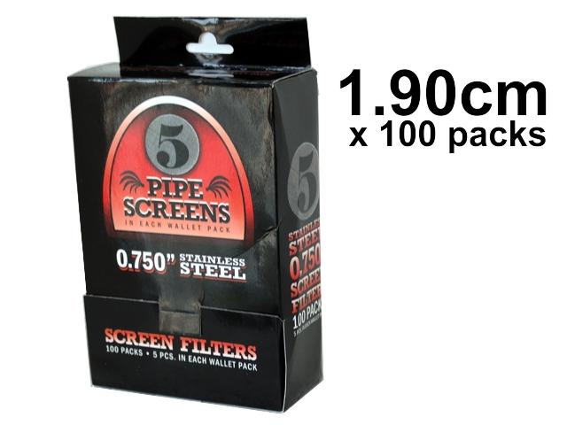 4582 - Σίτες Pipe Screens 0.750 Stainless steel 1.90cm μεσαίες (100 πακετάκια των 5)