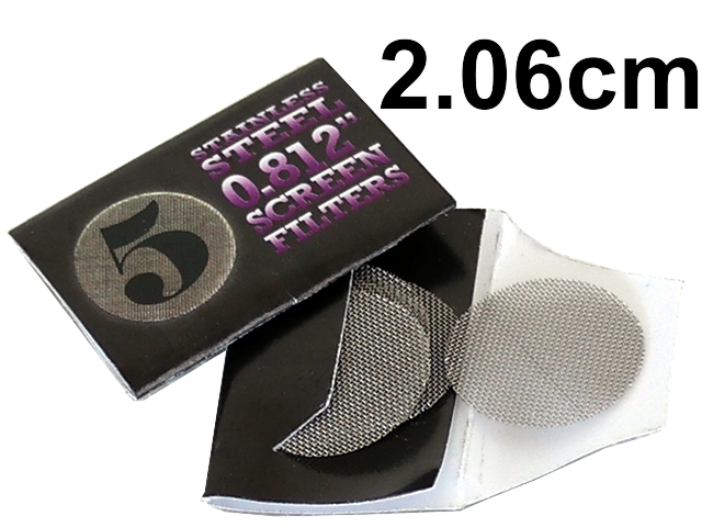 4583 - Σίτες Pipe Screens 0.812 Stainless steel 2.06cm μεγάλες (πακετάκι με 5 σίτες)