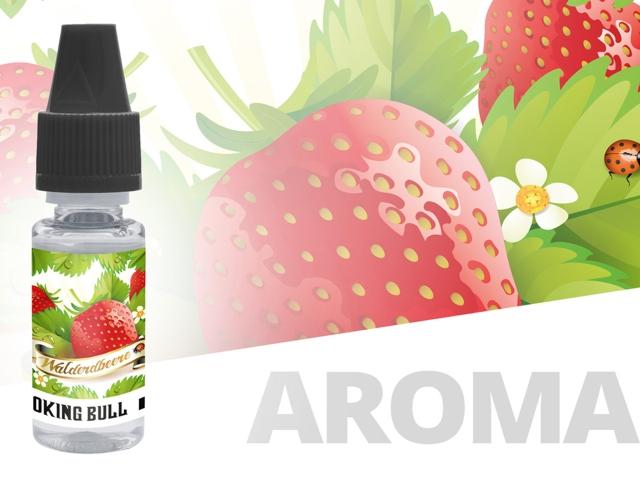4589 - Άρωμα Smoking Bull ERDBEER KUHSAFT 10ml (φράουλα, κρέμα)