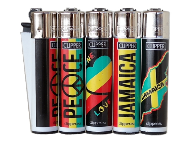 Αναπτήρας Clipper JAMAICA LOVE PEACE CP11 LARGE