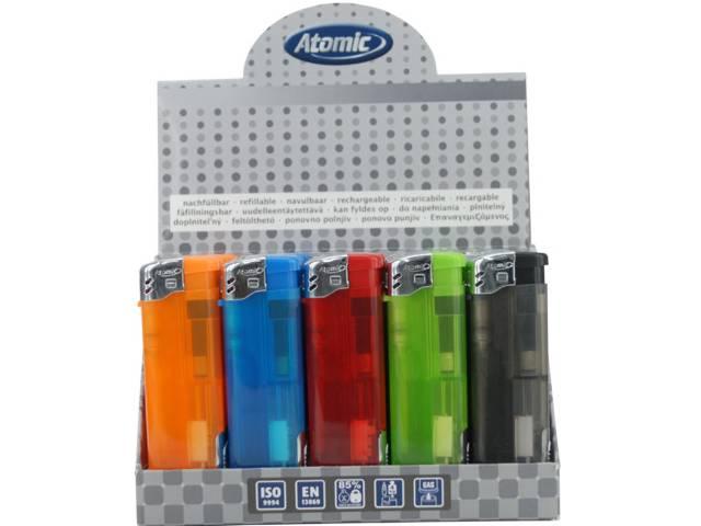 50 Αναπτήρες Atomic Electronic Lighter Light&Fire ηλεκτρονικός με φακό LED με τιμή €0.39 ο ένας