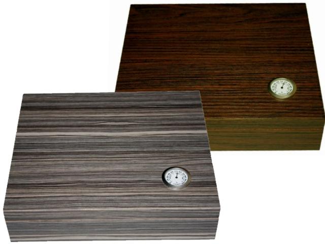 4671 - Υγραντήρας VG128 / 231 / 232 καφέ ανάγλυφο / γκρι ανάγλυφο ξύλο για 30 πούρα