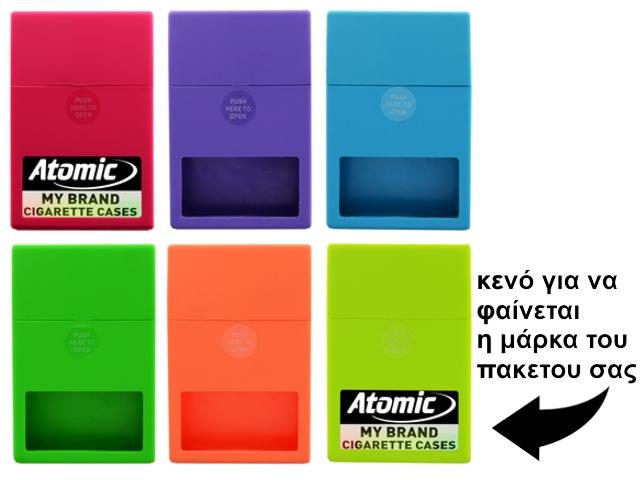 4691 - Θήκη ATOMIC Jump-Open Box Neon I για πακέτο με 20 τσιγάρα (με κενό για να φαίνεται η μάρκα)