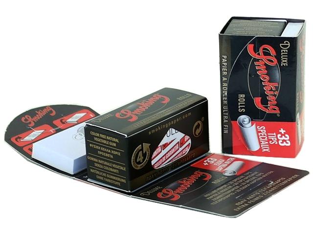 Ρολλό για στριφτό Smoking Deluxe + Filter Tips ριζόχαρτο 4 μέτρα (με τζιβάνες)