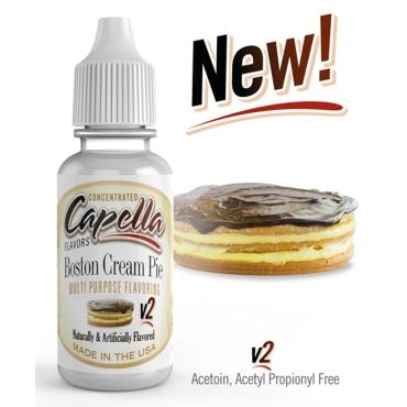 4823 - Άρωμα Capella Boston Cream Pie V2 13ml (πίτα κρέμα σοκολάτα)