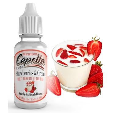 4876 - Άρωμα Capella Strawberries and Cream 13ml (κρέμα φράουλα)