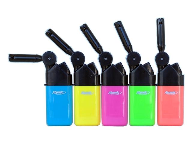 4955 - Αναπτήρας Atomic Knick Mini BBQ Neon colors 3692502 (με κινούμενο στόμιο) 12.5cm ματ