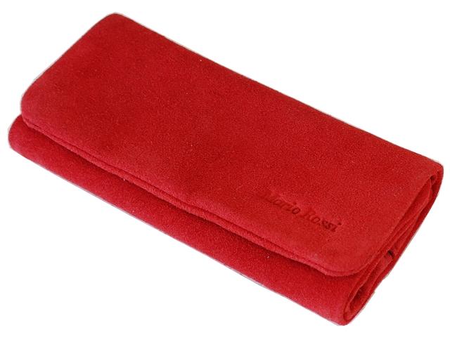 4985 - Καπνοθήκη Mario Rossi δερμάτινη Σουέτ Κόκκινη με θέση για αναπτήρα 2729-08 RED