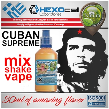5001 - NATURA MIX SHAKE VAPE CUBAN SUPREME 30/100ML (καπνικό)