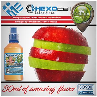 5005 - NATURA MIX SHAKE VAPE DOUBLE APPLE 30/100ML (πράσινο και κόκκινο μήλο)