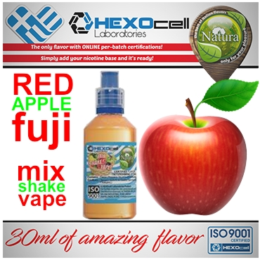 NATURA MIX SHAKE VAPE FUJI RED APPLE 30/100ML (κόκκινο μήλο)