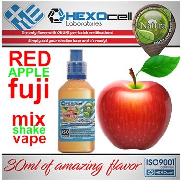 5011 - NATURA MIX SHAKE VAPE FUJI RED APPLE 30/100ML (κόκκινο μήλο)