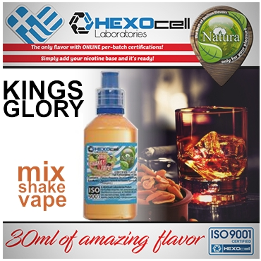 NATURA MIX SHAKE VAPE KINGS GLORY 30/100ML (καπνικό με αρώματα από ουίσκι και ξηρούς καρπούς)
