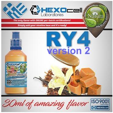 NATURA MIX SHAKE VAPE RY4 VERSION2 30/100ML (καπνικό με ενισχυμένη γεύση καραμέλα και βανίλια)