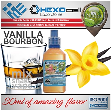 5045 - NATURA MIX SHAKE VAPE VANILLA BOURBON 30/100ML (βανίλια μπέρμπον)