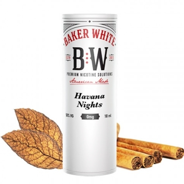 5105 - Baker White Havana Nights 10ml (White) (έντονο καπνικό)