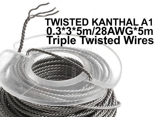 Σύρμα UD TRIPLE TWISTED KANTHAL A1 0.3*3*5m/28AWG*5m Triple Twisted Wires