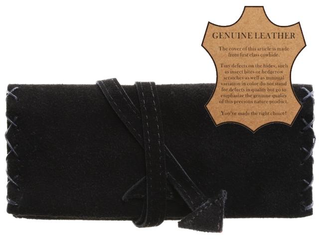 Καπνοθήκη ATOMIC από γνήσιο δέρμα 0405950 (μαύρη) δερμάτινη