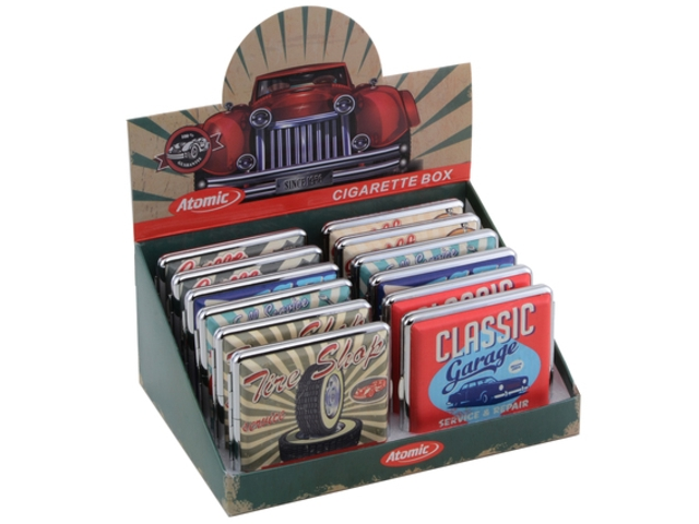 5195 - Κουτί με 12 ταμπακιέρες ATOMIC Zig-Etui Cars (για 18-20 τσιγάρα) 0410630
