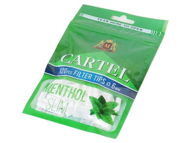 5224 - Φιλτράκια Cartel MENTHOL SLIM 6.0mm
