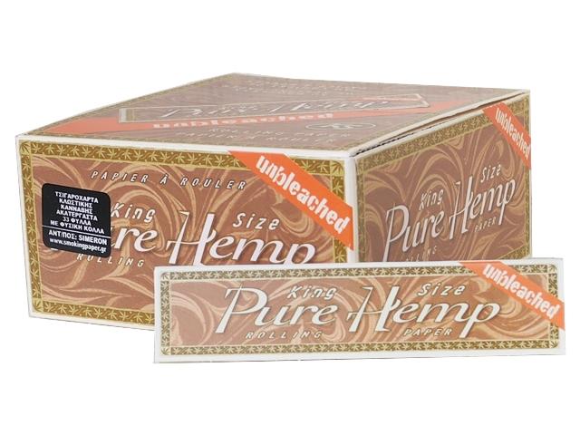 5236 - Κουτί με 50 χαρτάκια Pure Hemp King Size Unbleached ακατέργαστο