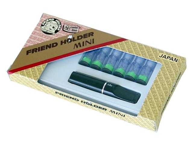 Πίπα για κανονικό τσιγάρο FRIEND HOLDER MINI 8mm (made in Japan) 310 μαύρη