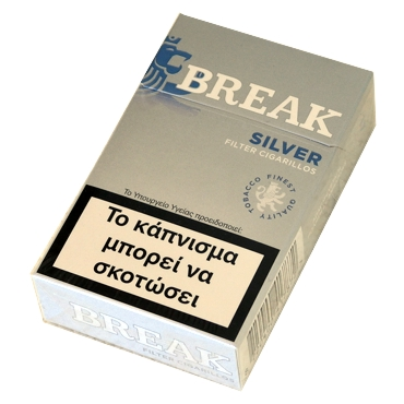 5252 - Cigarillos BREAK SILVER Filter 17 (ασημί)