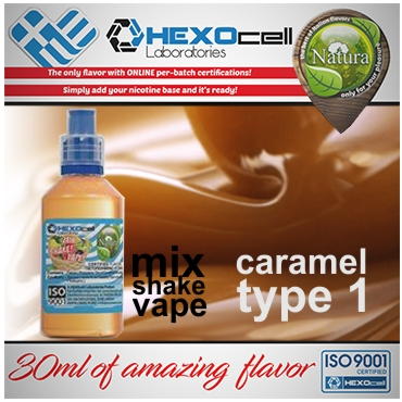 5336 - NATURA MIX SHAKE VAPE CARAMEL TYPE 1 30/100ML (καραμέλα)