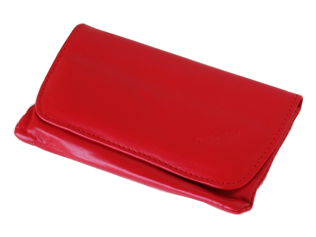 5363 - Καπνοθήκη από γνήσιο δέρμα Over Top 9901-Z RED (μεσαία - μεγάλη)