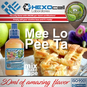 NATURA MIX SHAKE VAPE Mee Lo Pee Ta 30/100ML (μηλόπιτα)