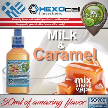 5438 - NATURA MIX SHAKE VAPE MiLk & Caramel 30/100ML (γάλα και καραμέλα)