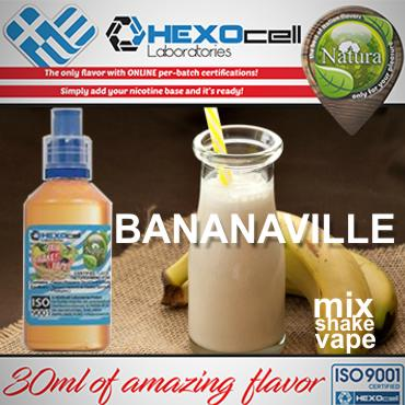 NATURA MIX SHAKE VAPE BANANAVILLE 30/100ML (μπανάνα & κρέμα)
