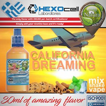 NATURA MIX SHAKE VAPE CALIFORNIA DREAMING 30/60ML (μπισκότο κανέλα μέντα)