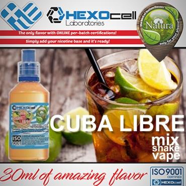 NATURA MIX SHAKE VAPE CUBA LIBRE 30/60ML (κοκτέιλ με ρούμι λάιμ κόλα)