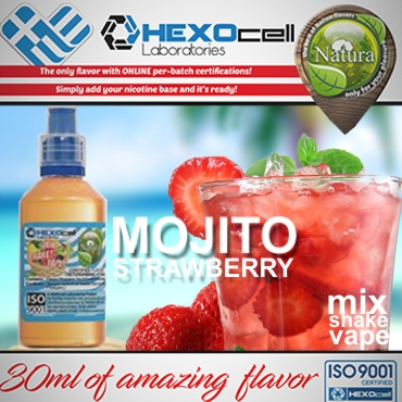 NATURA MIX SHAKE VAPE MOJITO STRAWBERRY 30/60ML (μοχίτο φράουλα)