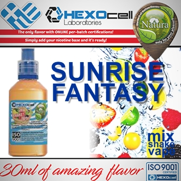 NATURA MIX SHAKE VAPE SUNRISE FANTASY 30/100ML (διάφορα φρούτα)