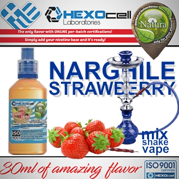 NATURA MIX SHAKE VAPE NARGHILE STRAWBERRY 30/60ML (ναργιλέ φράουλα)